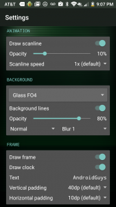 Live Wallpaper Settings