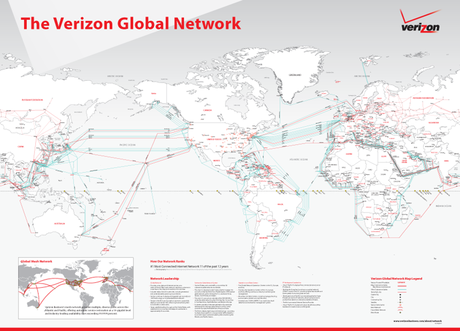 Blackberry PRIV Launches On Verizon - Verizon network map