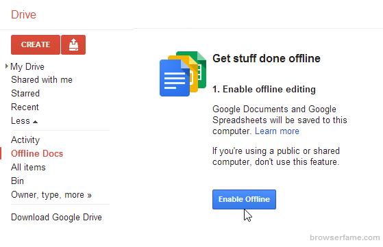 google-drive-enable-offline-edit