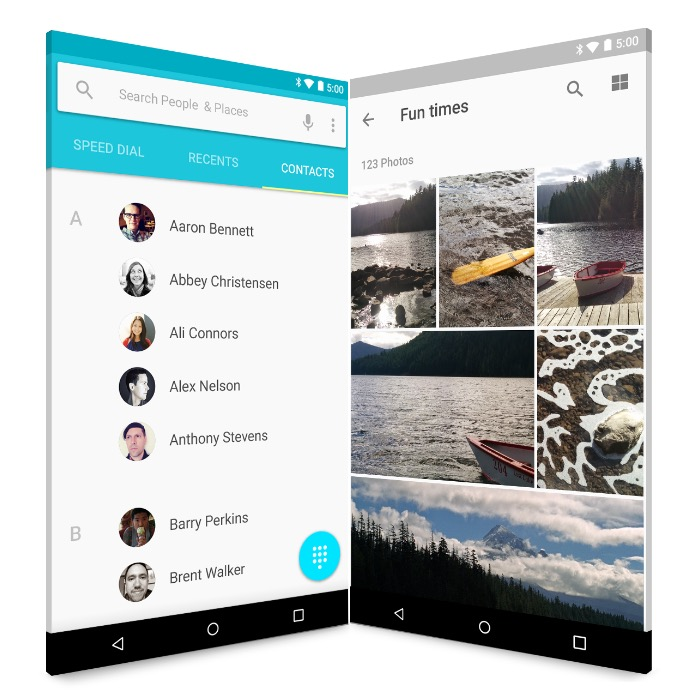 google photos and contacts