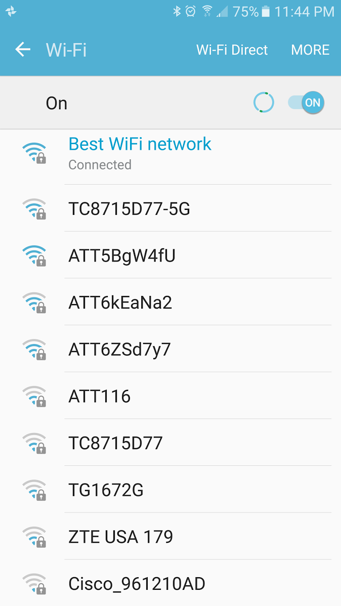 I have the best wifi network in my condo complex.