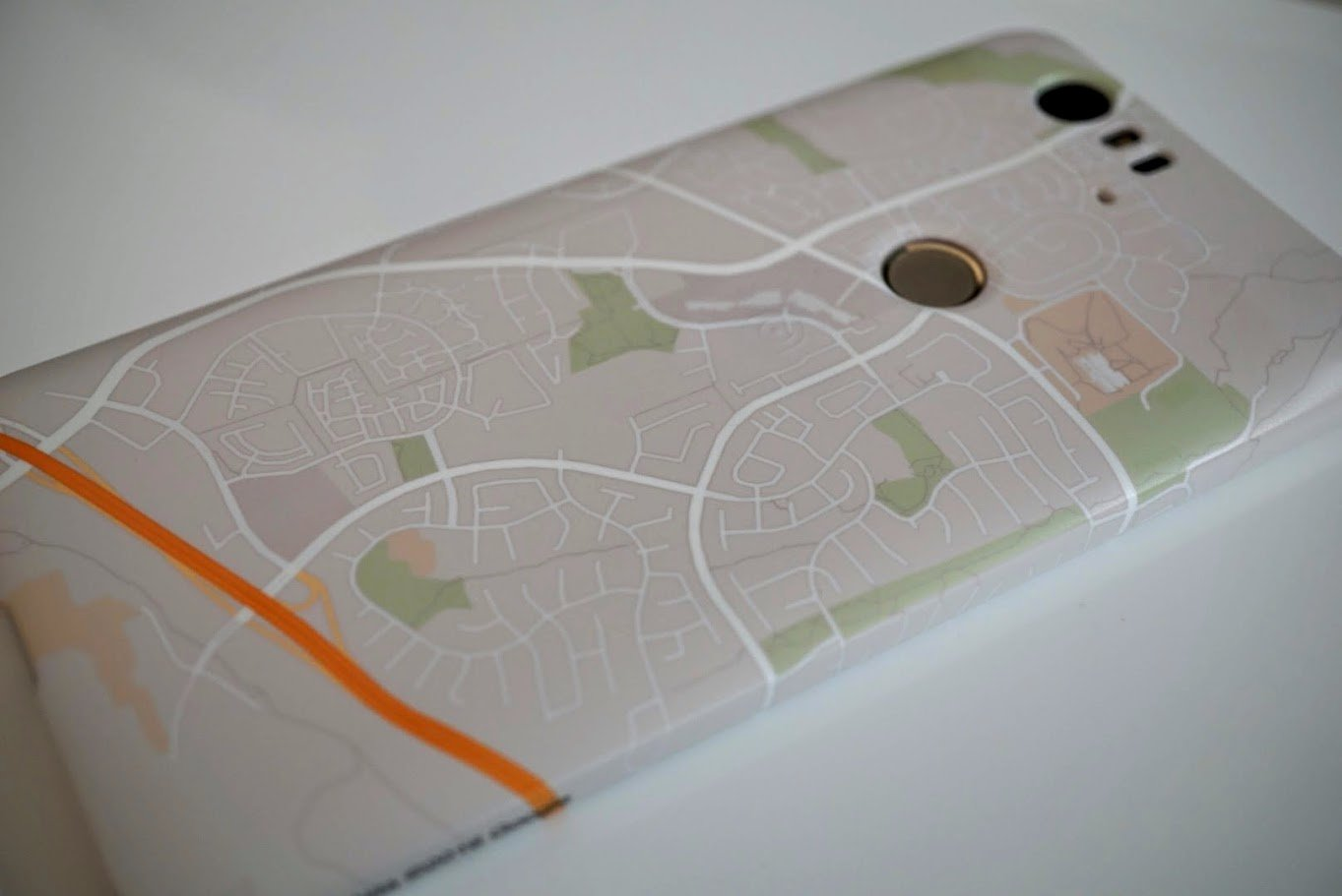Custom Google Places Live Case for the Nexus 6P.