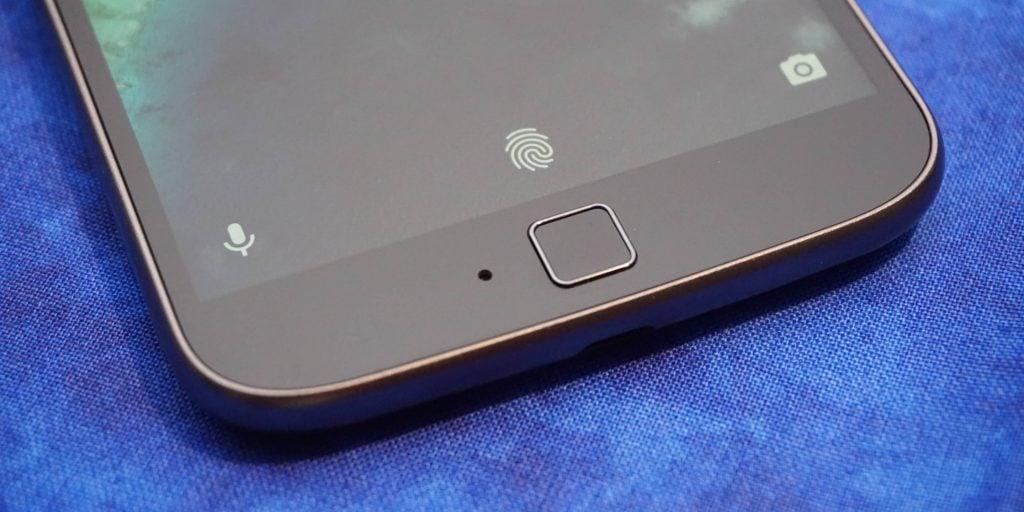 Moto G4 Plus fingerprint scanner (FILEminimizer)
