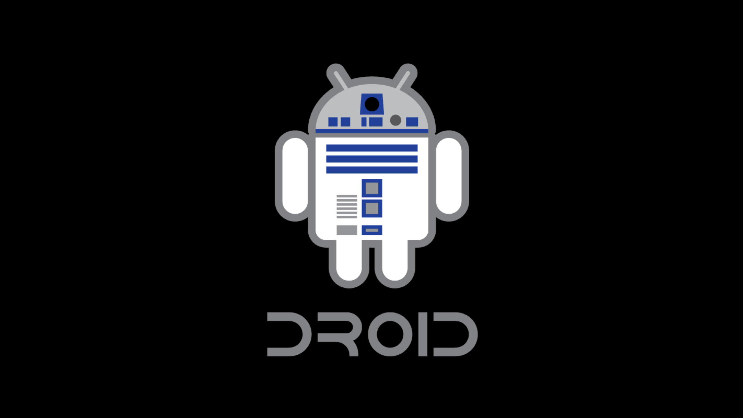 star wars android logo 4k wallpaper 2560x1440