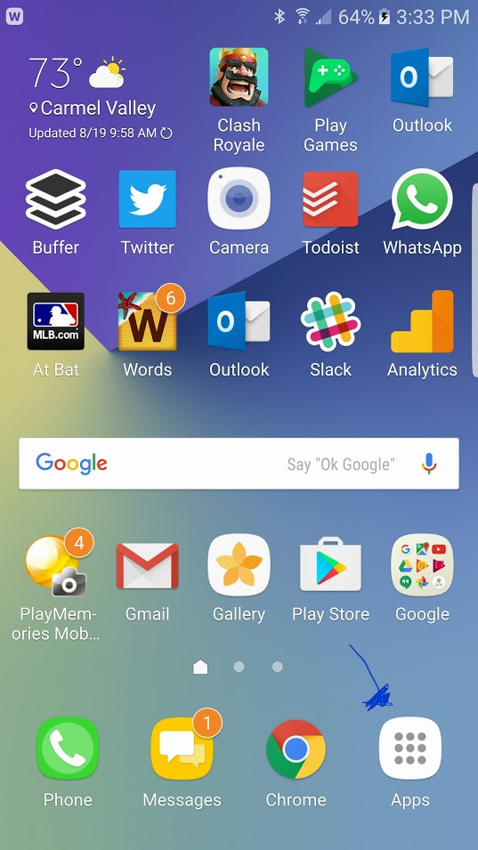 note 7 app drawer