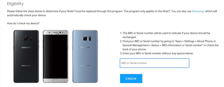 Samsung IMEI checker