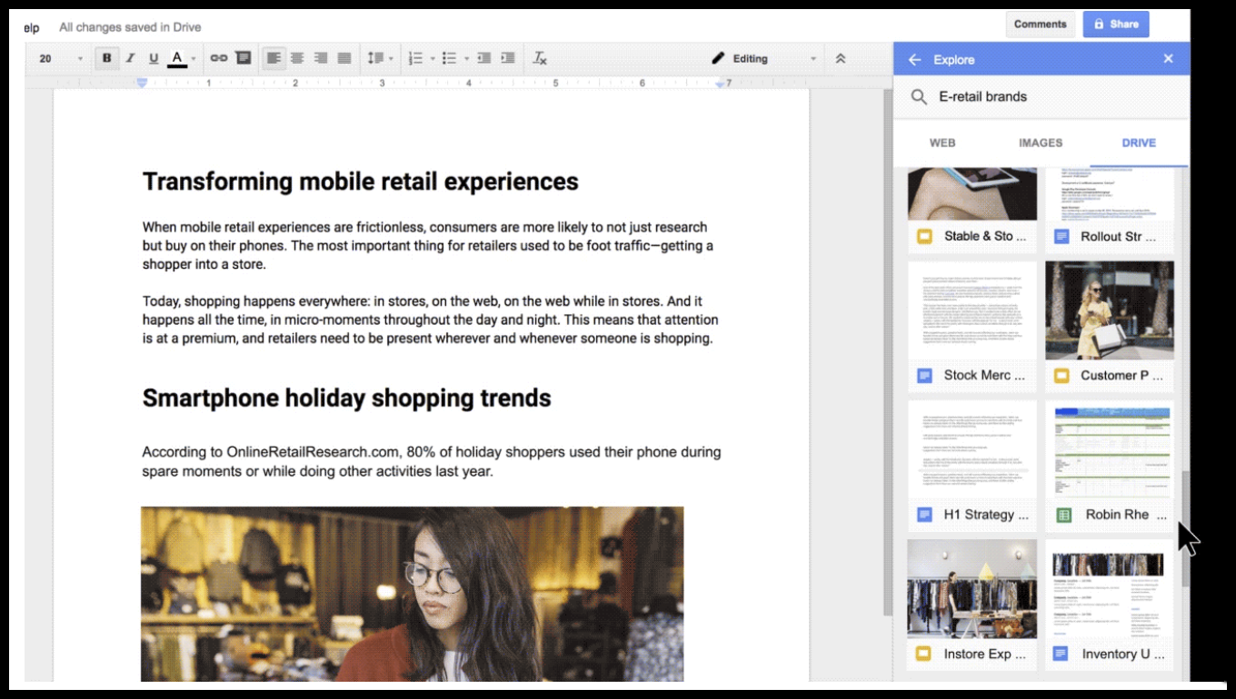 google brings new feature to docs called explore With google docs explore feature