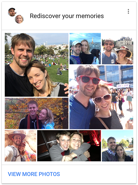 google photos memories