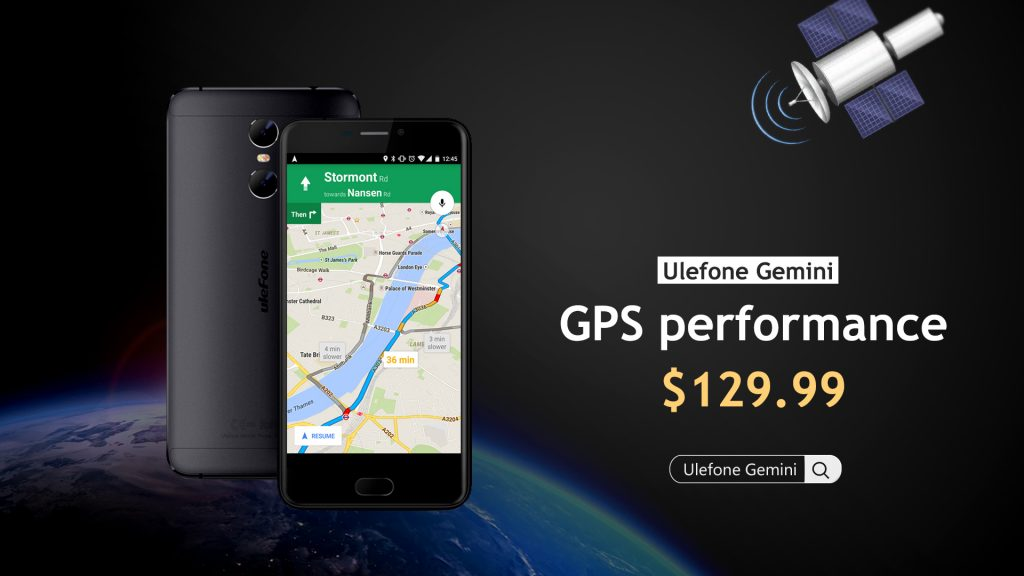 Ulefone touts accuracy of GPS in its Gemini smartphone (Promoted)