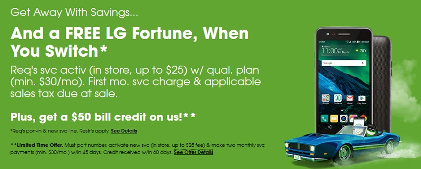 Cricket Wireless now offers switchovers $50 bill credit