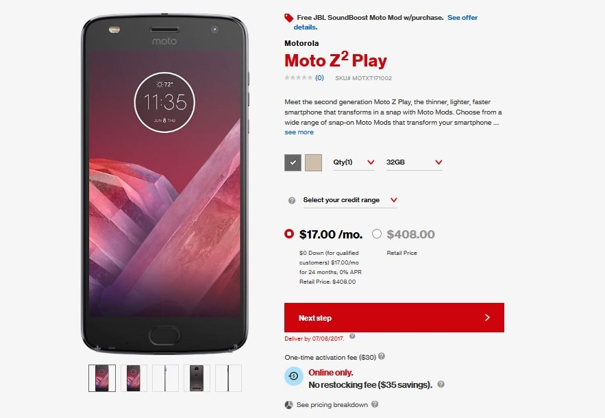Moto Z2 Play and New Moto Mods Now Available for Purchase