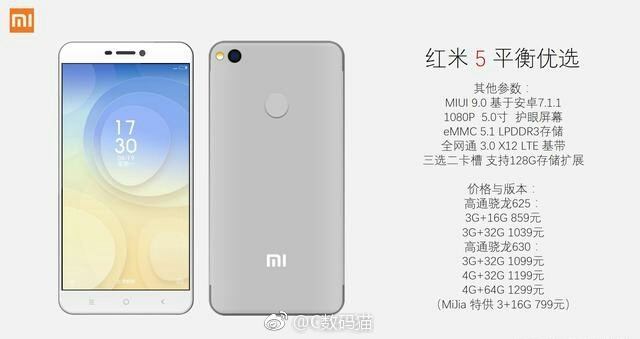 Xiaomi Redmi 5 official images leaked