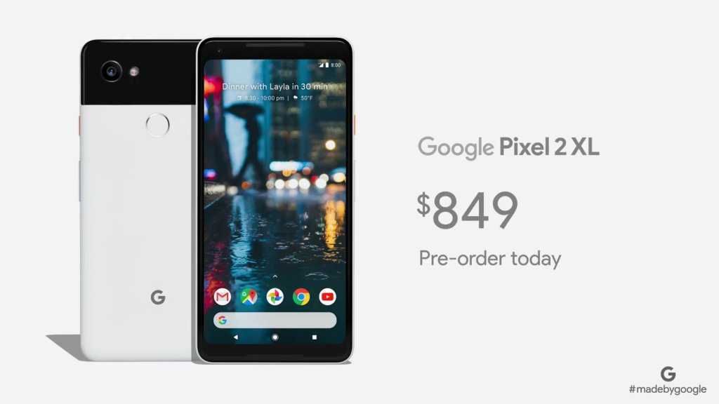 The Pixel 2 And XL Are Newest Phones In Made By Google Program Featuring 5 Inch 6 POLED Displays