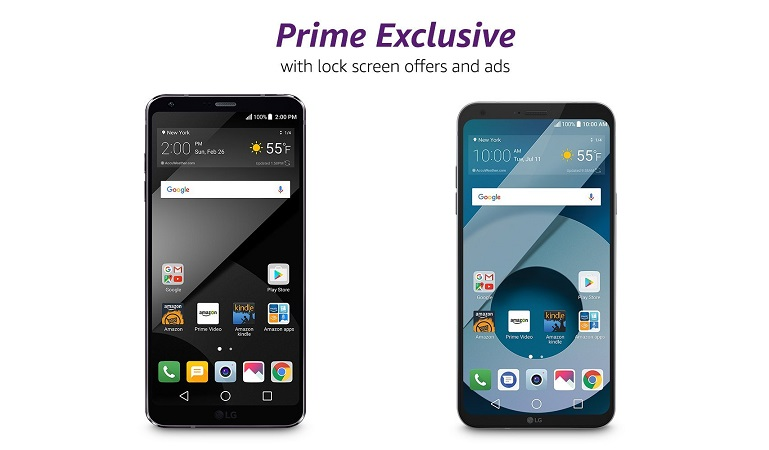 LG phones now available via Amazon Prime Exclusive program
