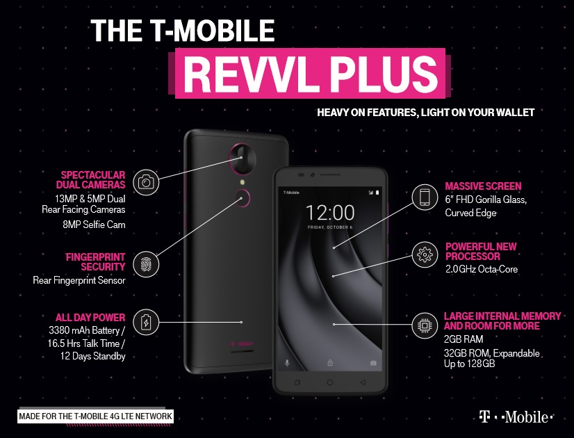 Mobile launches Revvl Plus Android phone in US