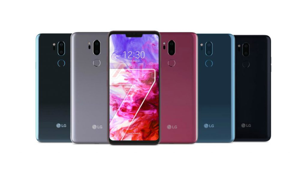Flagship smartphone LG ThinQ G7 appeared on the press rendering