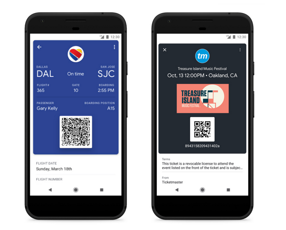 Google Pay Boarding Pass