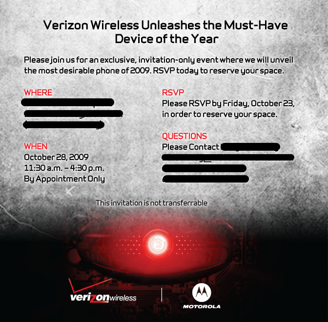 Verizon and motorola hosting invitation only event next week droidinvitegizmodo stopboris Images