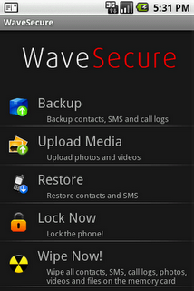 wave_secure_3a_main_menu