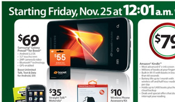 Boost Mobile Phones Walmart >> Walmart S Black Friday Features 69 Galaxy Prevail Boost