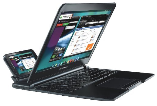 Motorola Atrix and Lapdock system, from 2011.