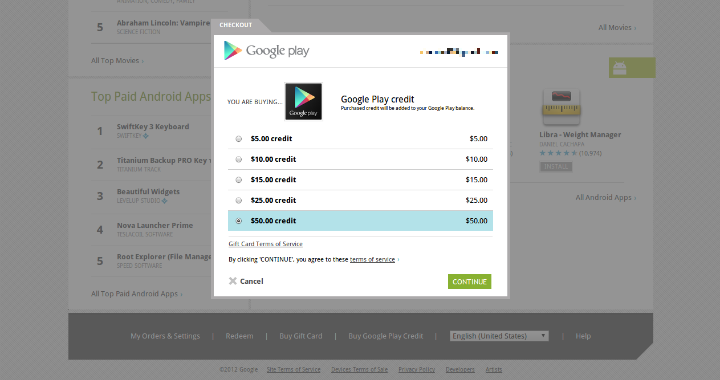add money to google play for free