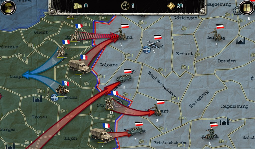 Strategy and Tactics: World War 2 - A WW2 Risk-like Strategy Game