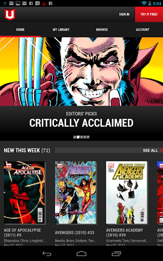 Marvel Unlimited Makes His Arrival in Android