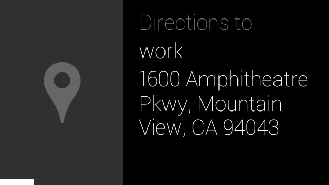 Google Glass directions to work