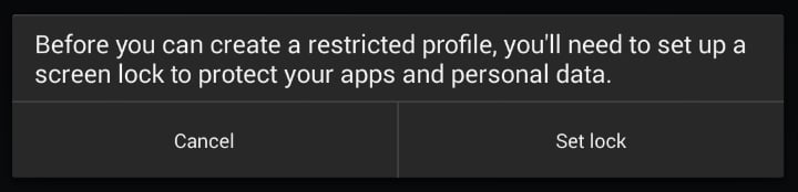 Restricted profile 1