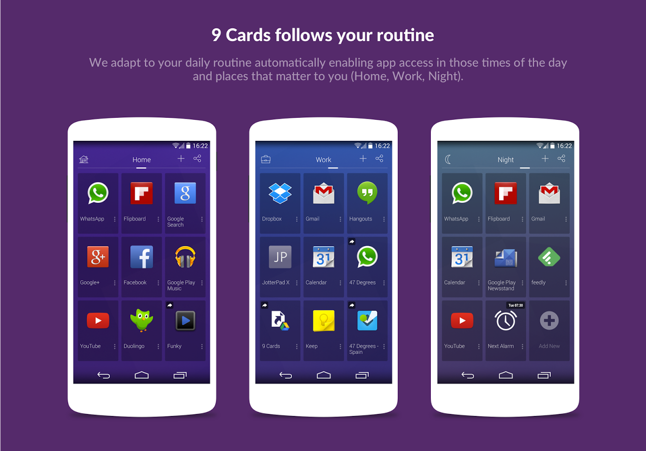 9 cards home launcher_2