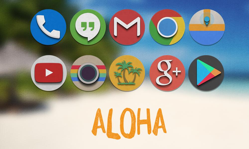 Aloha Icon Banner