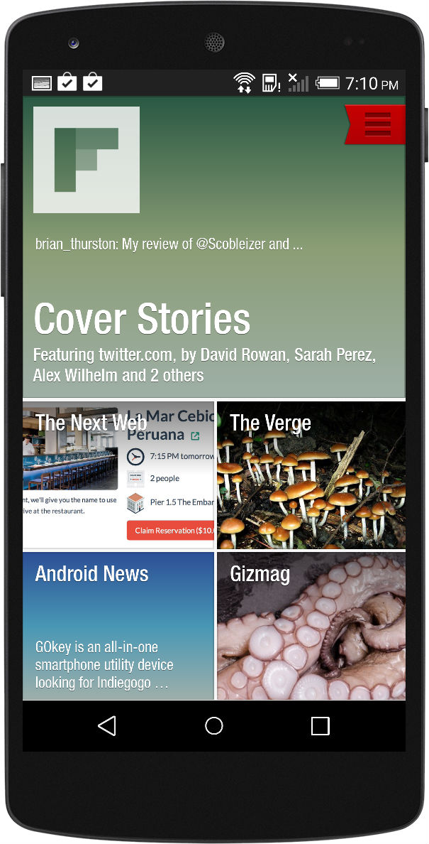 Flipboard Main Page
