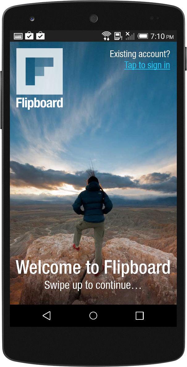 Flipboard Startup Screen