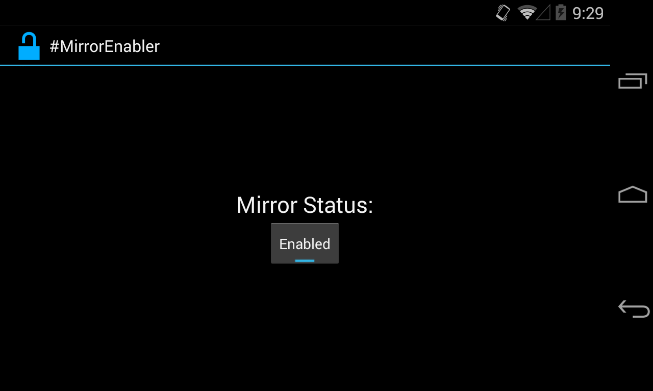 Enable Android screen mirroring to Chromecast on your rooted
