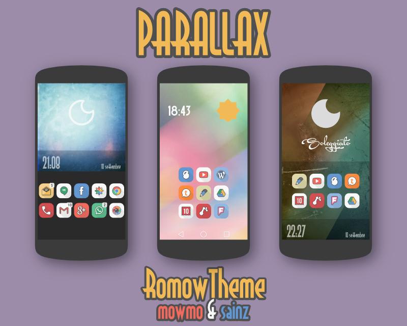 Parallax Icon Banner