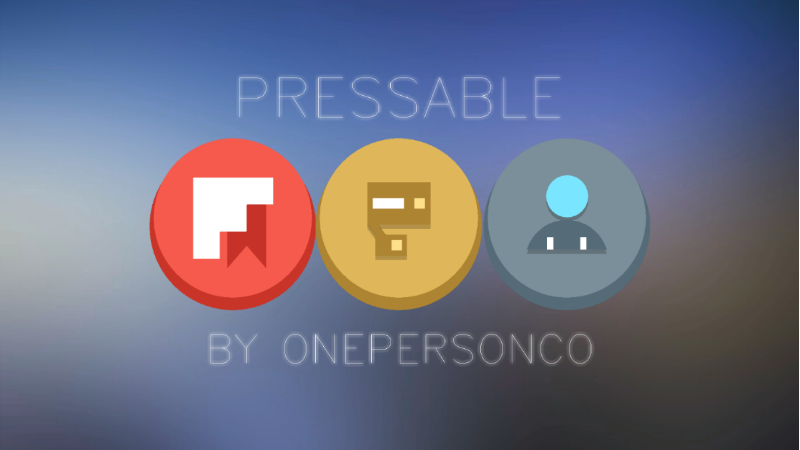 Pressable Icon Banner
