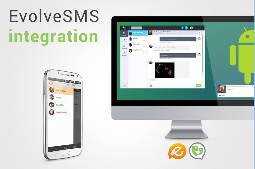 Send SMS with your Android smartphone from any device with