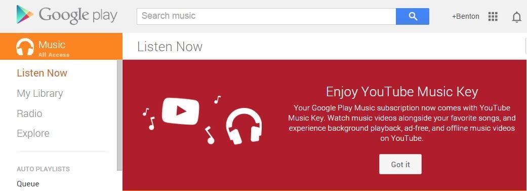 youtube musickey