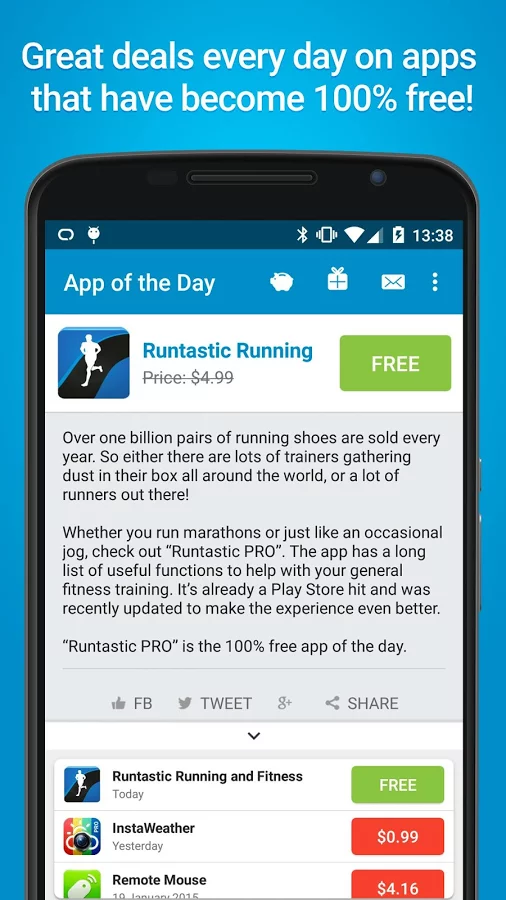 app of the day