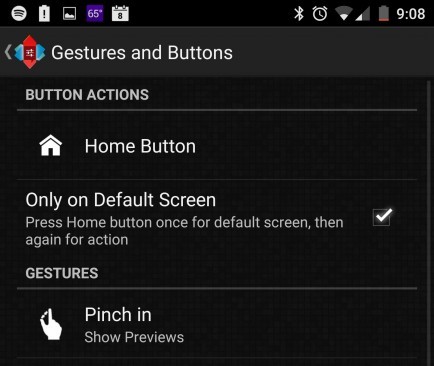 Gestures and buttons
