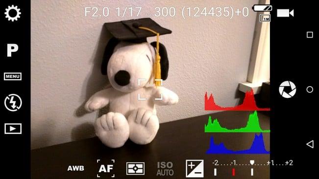 Camera FV-5 interface