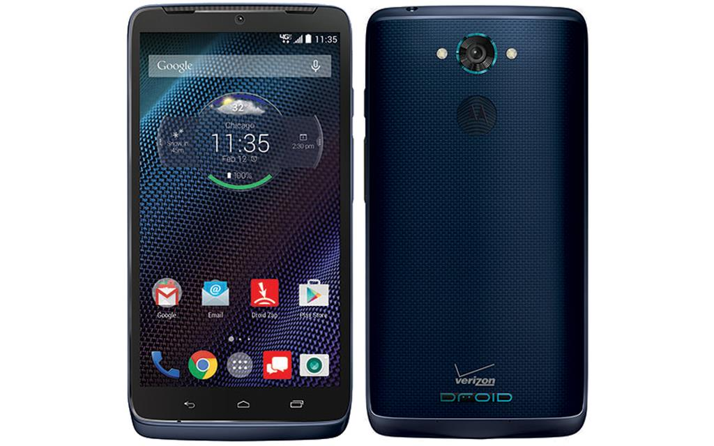 The Droid Turbo in Sapphire Blue Ballistic Nylon
