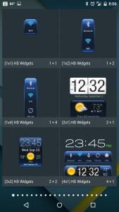 Applying HD Widgets