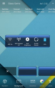 HD Widgets customization screen