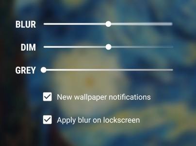 Muzei settings