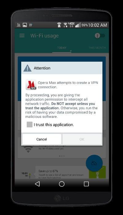 Opera Max Create VPN