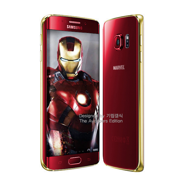 Possible Render for the Samsung Galaxy S6 Edge Iron Man Edition
