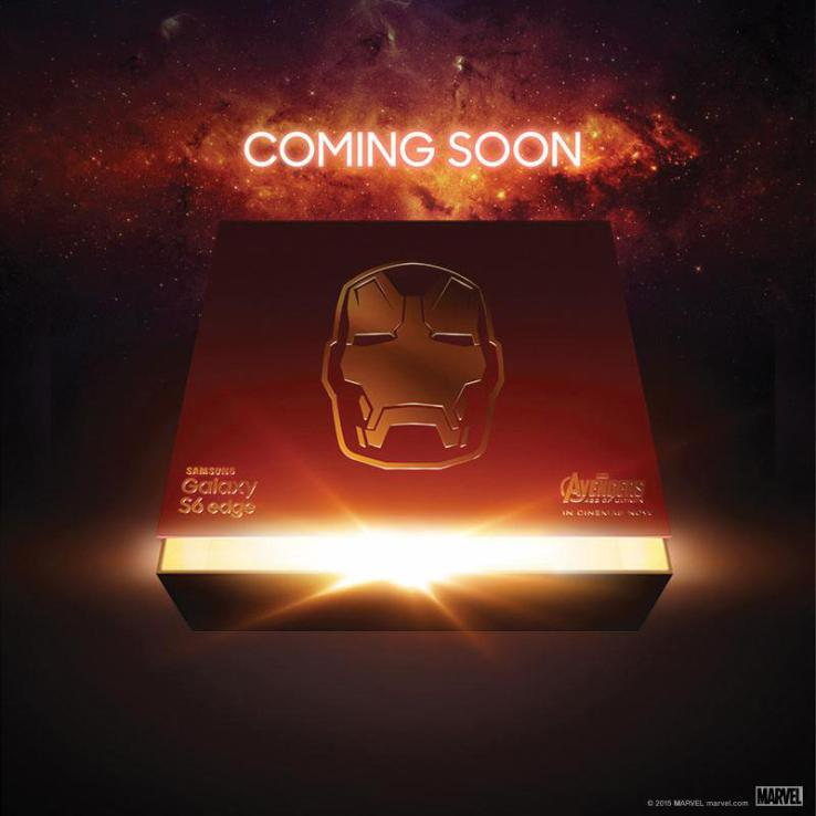 Teaser for the Samsung Galaxy S6 Edge Iron Man Edition