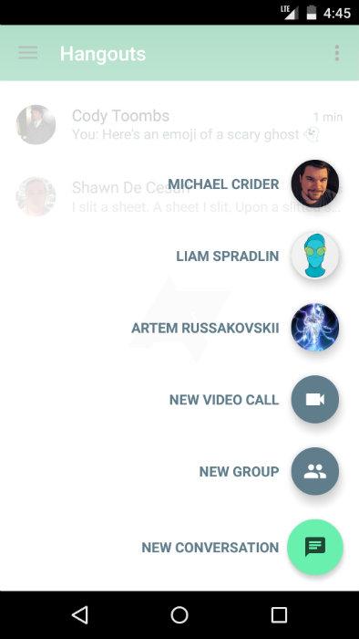 Hangouts 4.0 Screenshot 2